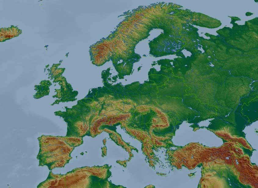 Skyday Europa Zdjecia Satelitarne Opady Deszczu Sniegu Pogoda